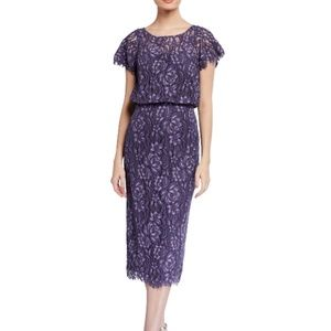 NWT JS Collections Embroidered Lace Cocktail Dress